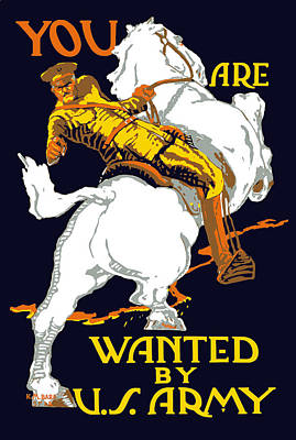 You Are Wanted By Us Army Art Print by War Is Hell Store
