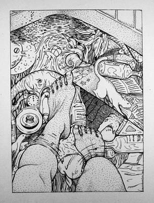 Drain Drawing - You Awake In There by Sara Jouett Martinez