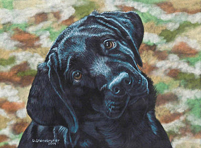 Black Labrador Drawing - You Called? by Debbie Stonebraker