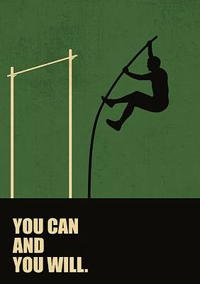 Business Digital Art - You Can And You Will Life Inspirational Quotes Poster by LabNo4