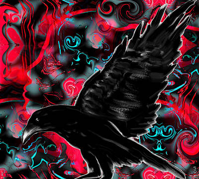 Bath Painting - You Can Crow Your Own Way by Abstract Angel Artist Stephen K
