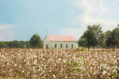 Photograph - You Can Find Faith In The Middle Of A Cotton Field by Scott Pellegrin