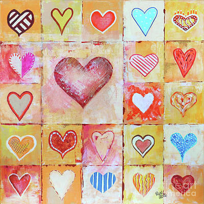 Painting - You Can Only See Clearly With Your Heart by Jutta Maria Pusl