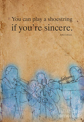 Jazz Royalty Free Images - You can play a shoestring, Coltrane Royalty-Free Image by Drawspots Illustrations