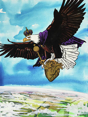 Art Print featuring the painting You Can Soar by Nathan Rhoads