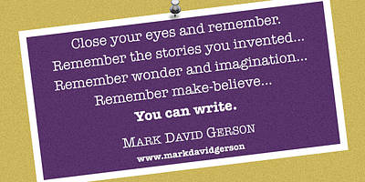 Digital Art - You Can Write II by Mark David Gerson
