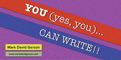 Digital Art - You Can Write I by Mark David Gerson