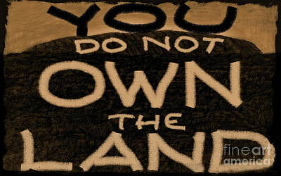 Mixed Media - You Do Not Own The Land by Tim Richards