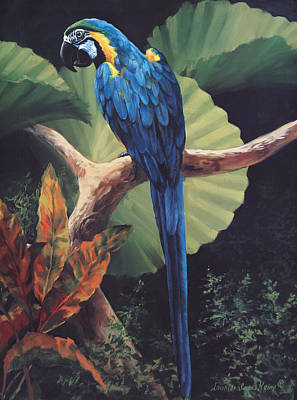 Parrot Painting - You Don't Say by Laurie Hein