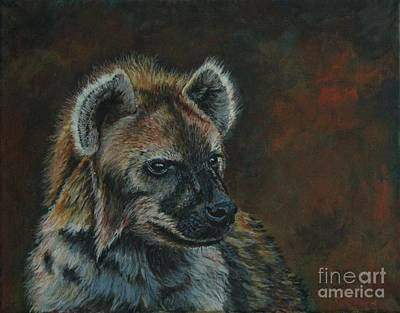 Painting - You Don't See Me Laughing......hyena by Bob Williams