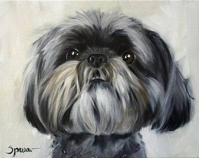 Animals Painting - You Got My Attention by Mary Sparrow