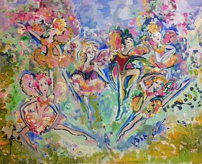 Painting - You Got This Fairies  by Judith Desrosiers