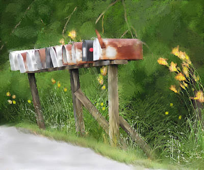 Mixed Media - You Have Mail by Mary Timman