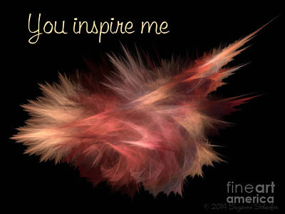 Digital Art - You Inspire Me  by Suzanne Schaefer