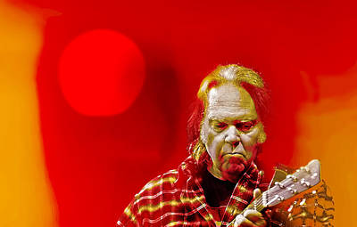Neil Young Digital Art - You Keep Me Searching by Mal Bray