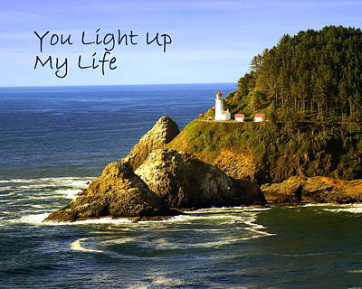 Greeting Card - You Light Up My Life 1 by Marty Koch