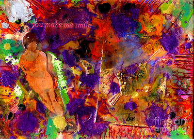 Mixed Media - You Make Me Smile by Angela L Walker