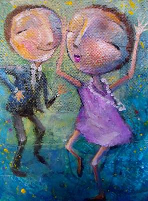 Art Print featuring the painting You Make Me Wanna Dance by Eleatta Diver