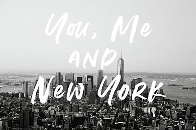 Mixed Media - You Me And New York- Art By Linda Woods by Linda Woods
