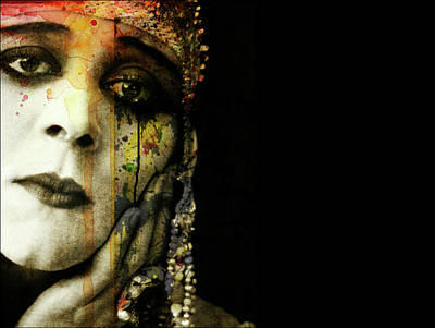 Woman Mixed Media - You Never Got To Hear Those Violins by Paul Lovering