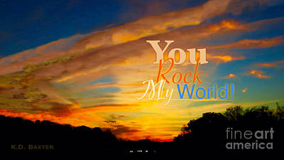 Photograph - You Rock My World by Kimberlee Baxter