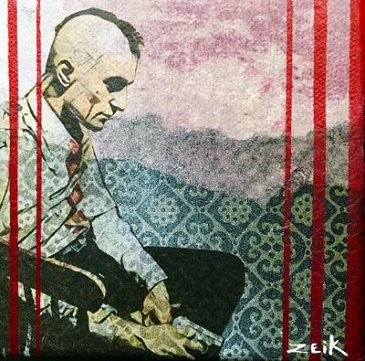 Stencil Art Painting - You Talkin To Me? by Bobby Zeik