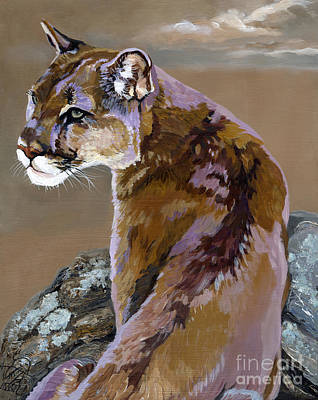 Catnap Painting - You Talking To Me by J W Baker