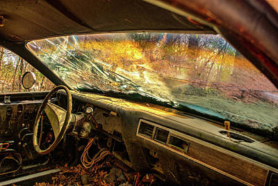 Photograph - You Through Windshield Of Antique Car by Douglas Barnett
