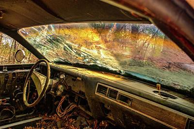 Photograph - You Through Windshield Of Antique Car by Douglas Barnett