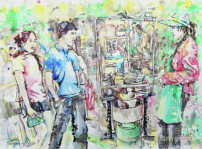Bangkok Painting - You Want Soup? by Gordon Tardio