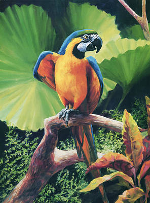 Parrot Painting - You Got To Be Kidding by Laurie Hein