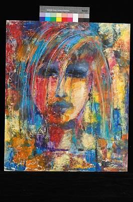 Marcelle Hamelin Mixed Media - Youmg Girl by Marcelle Hamelin