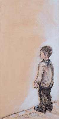 Recently Added Painting - Young Admirer /harmonica  by Miriam