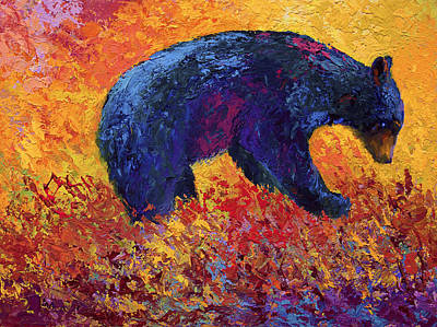 Bear Cub Painting - Young Adventuror by Marion Rose