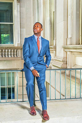 Photograph - Young African American Businessman Taking Work Break Outside Off by Alexander Image