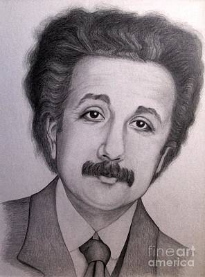 Einstein Drawing - Young Albert Einstein by Sonsoles Shack