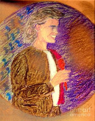 Young Andrea Bocelli Art Print by Ricardo Richard W Linford
