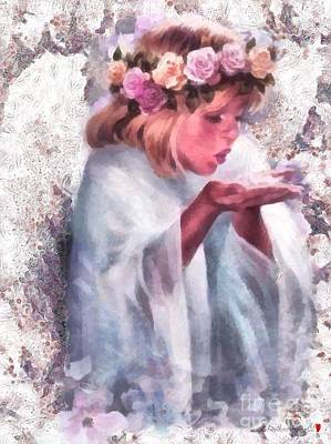 Painting - Young Angel Fragmented by Catherine Lott