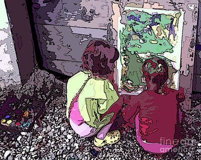 Young Artists Art Print by Sandra Nortje