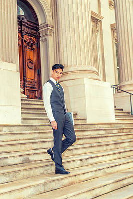 Photograph - Young Asian American Business Man  by Alexander Image