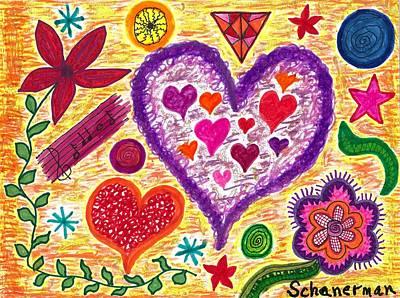Uplifting Drawing - Young At Heart by Susan Schanerman