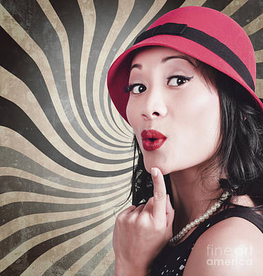 Warped Photograph - Young Attractive Chinese Woman Expressing Surprise by Jorgo Photography - Wall Art Gallery