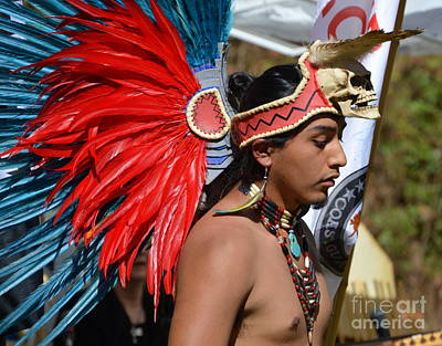 Photograph - Young Aztec Portrait by Lew Davis