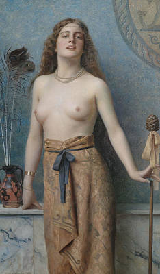 Painting - Young Bacchante by Max Nonnenbruch