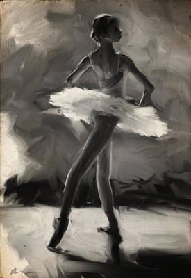 Ballerina Digital Art - Young Ballerina by H James Hoff