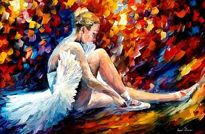 Young Ballerina Art Print by Leonid Afremov