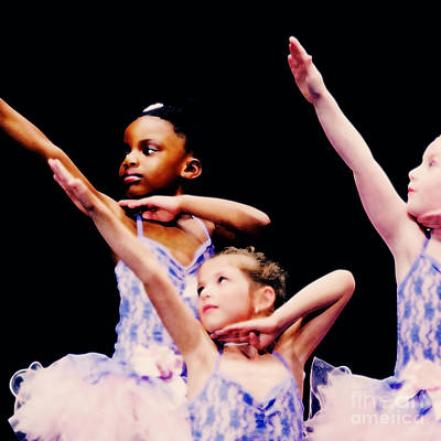 Girls In Pink Photograph - Young Ballerinas by Jim  Calarese