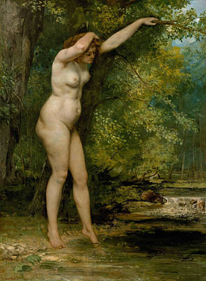 Painting - Young Bather by Gustave Courbet
