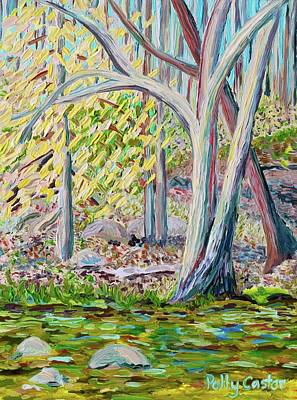 Painting - Young Beech Tree In Early Spring by Polly Castor