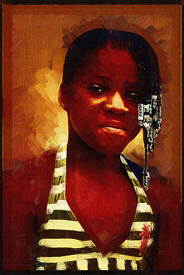 Photograph - Young Black Female Teen 1 by Ginger Wakem